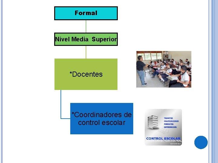 Formal Nivel Media Superior *Docentes *Coordinadores de control escolar