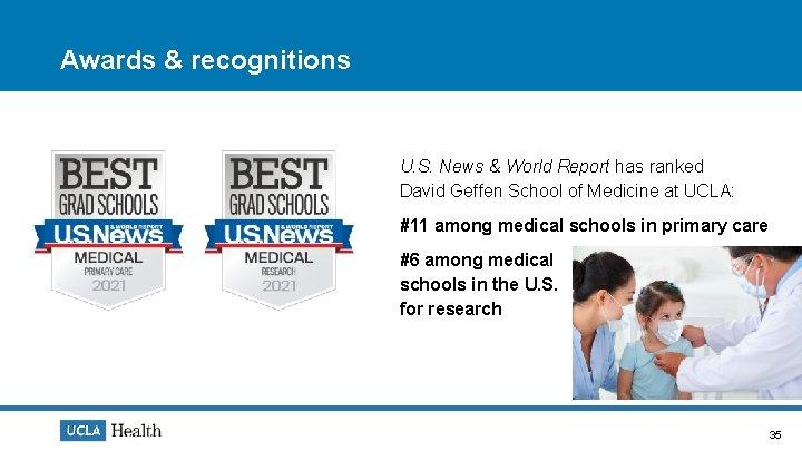 Awards & recognitions U. S. News & World Report has ranked David Geffen School