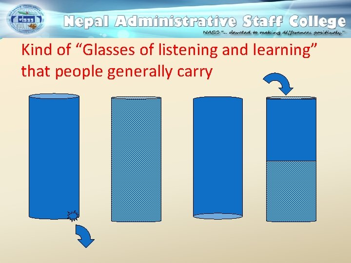 """Kind of """"Glasses of listening and learning"""" that people generally carry"""