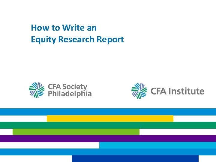 How to Write an Equity Research Report