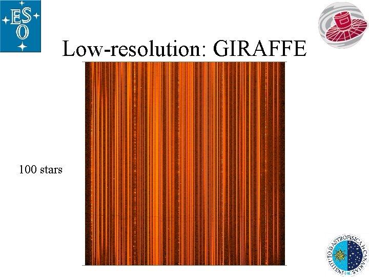 Low-resolution: GIRAFFE 100 stars
