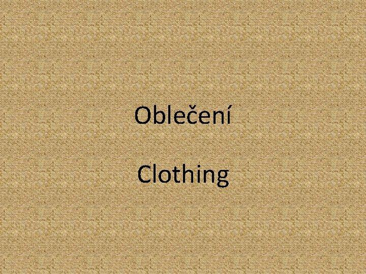 Oblečení Clothing