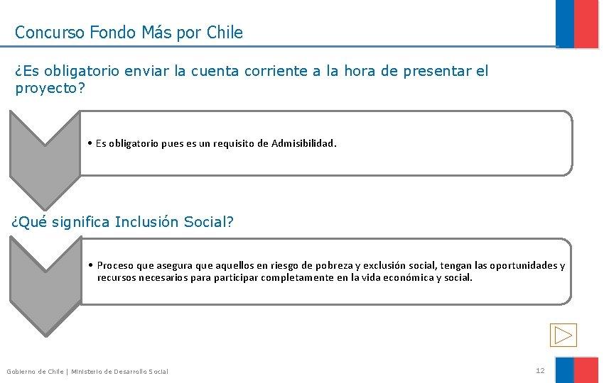 Concurso Fondo Más por Chile ¿Es obligatorio enviar la cuenta corriente a la hora