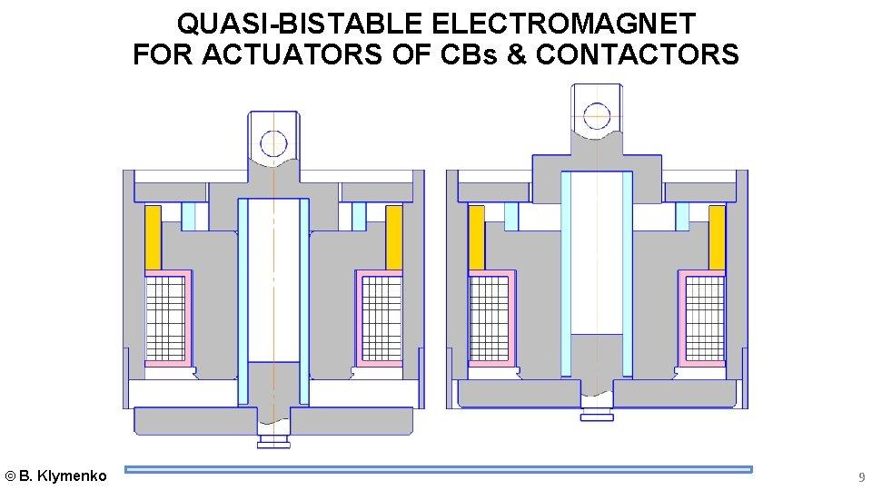 QUASI-BISTABLE ELECTROMAGNET FOR ACTUATORS OF CBs & CONTACTORS B. Klymenko 9