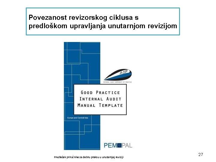 Povezanost revizorskog ciklusa s predloškom upravljanja unutarnjom revizijom Predložak priručnika za dobru praksu u