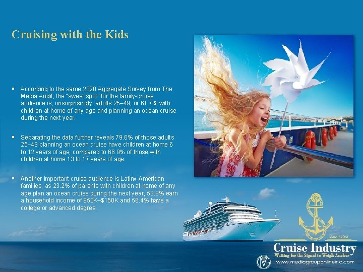Cruising with the Kids § According to the same 2020 Aggregate Survey from The