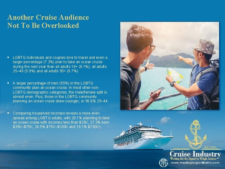 Another Cruise Audience Not To Be Overlooked § LGBTQ individuals and couples love to