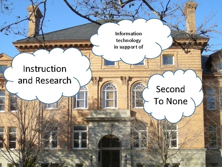 Information technology in support of Instruction and Research Second To None
