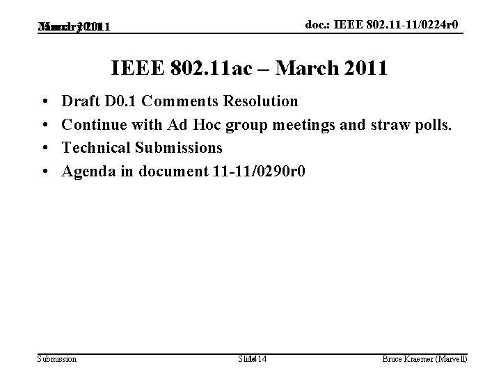 doc. : IEEE 802. 11 -11/0224 r 0 March 2011 January 2011 IEEE 802.