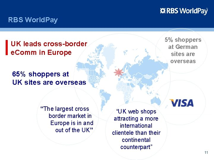 RBS World. Pay 5% shoppers at German sites are overseas UK leads cross-border e.