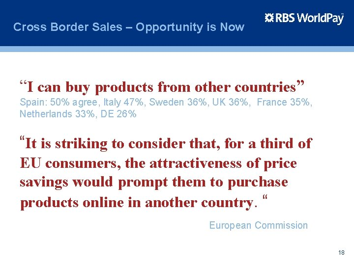 """Cross Border Sales – Opportunity is Now """"I can buy products from other countries"""""""