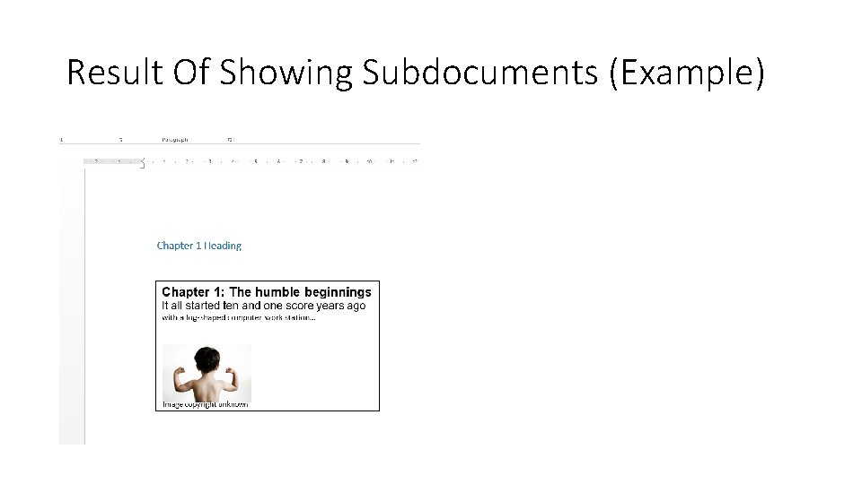 Result Of Showing Subdocuments (Example)
