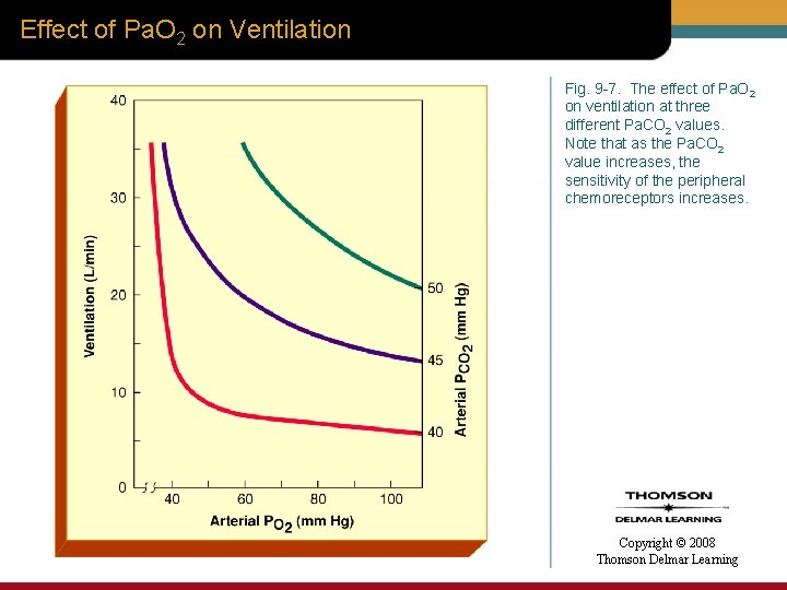 Effect of Pa. O 2 on Ventilation Fig. 9 -7. The effect of Pa.