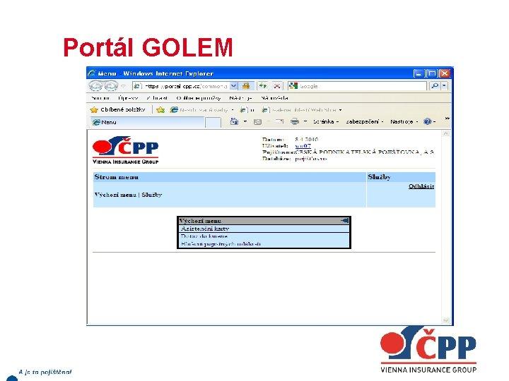 Portál GOLEM