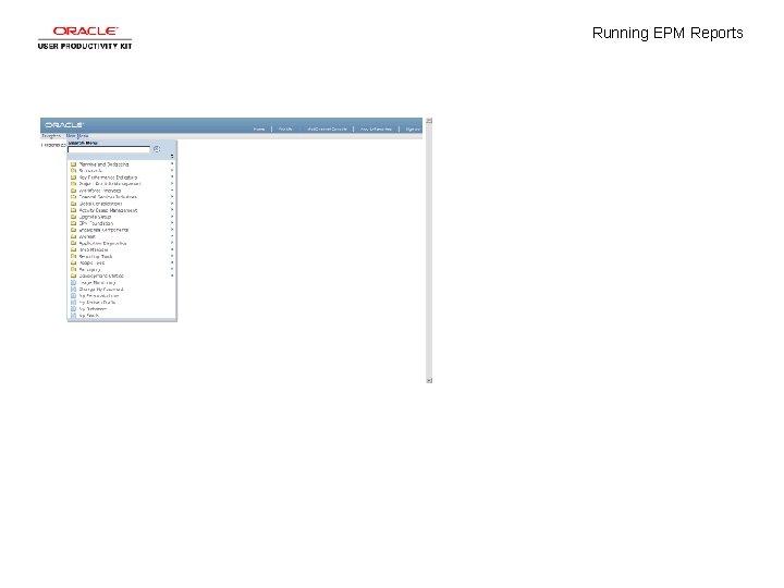 Running EPM Reports