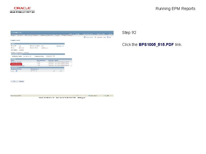 Running EPM Reports Step 92 Click the BPS 1005_515. PDF link.