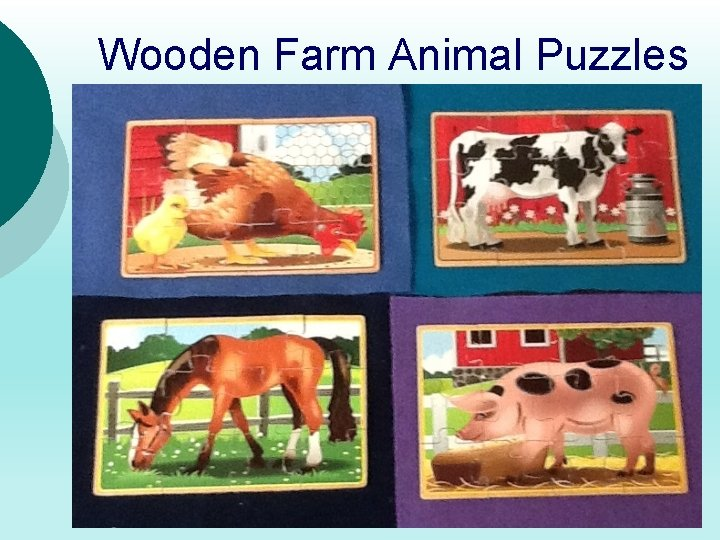 Wooden Farm Animal Puzzles 5