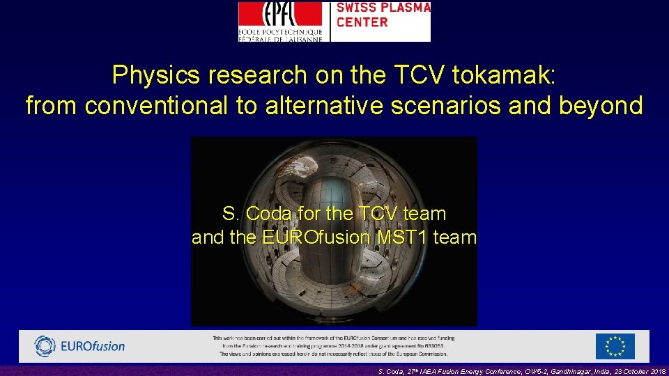 Physics research on the TCV tokamak: from conventional to alternative scenarios and beyond S.