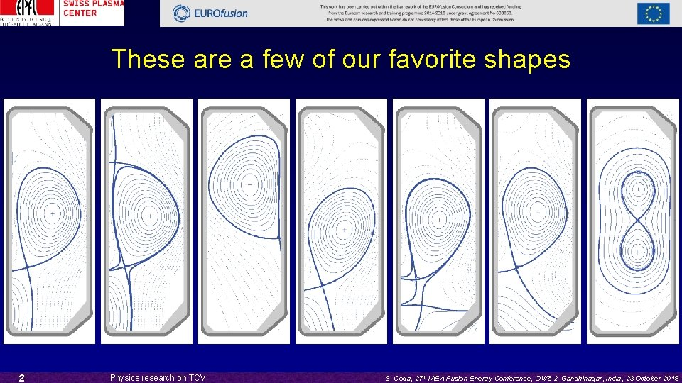 These are a few of our favorite shapes 2 Physics research on TCV S.