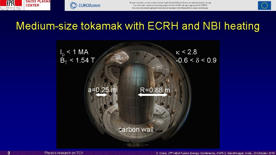 Medium-size tokamak with ECRH and NBI heating k < 2. 8 -0. 6 <