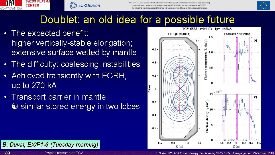 Doublet: an old idea for a possible future • The expected benefit: higher vertically-stable