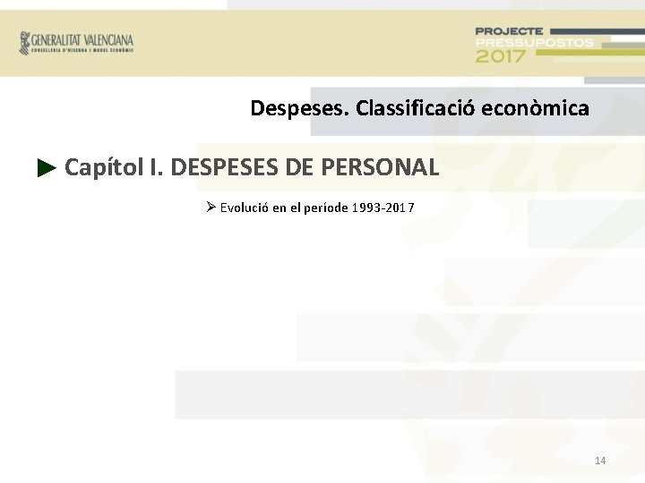 Despeses. Classificació econòmica ► Capítol I. DESPESES DE PERSONAL Evolució en el període 1993