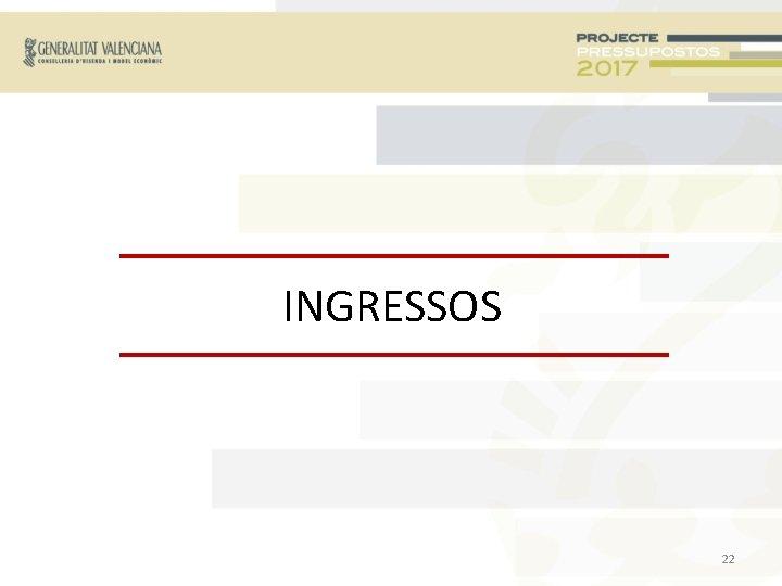 INGRESSOS 22