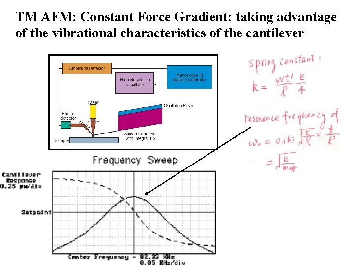TM AFM: Constant Force Gradient: taking advantage of the vibrational characteristics of the cantilever