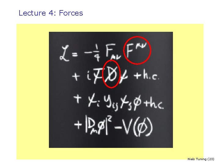 Lecture 4: Forces Niels Tuning (23)