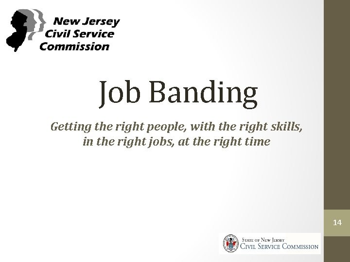 Job Banding Getting the right people, with the right skills, in the right jobs,