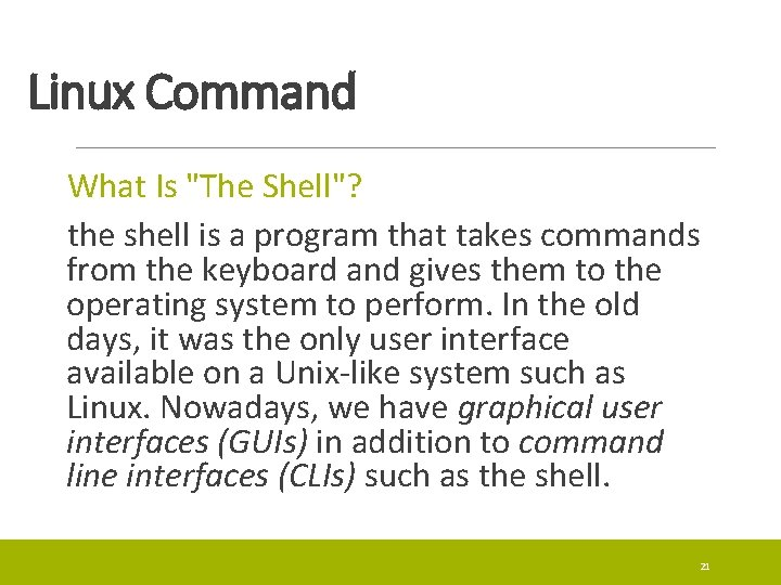 Linux Command What Is
