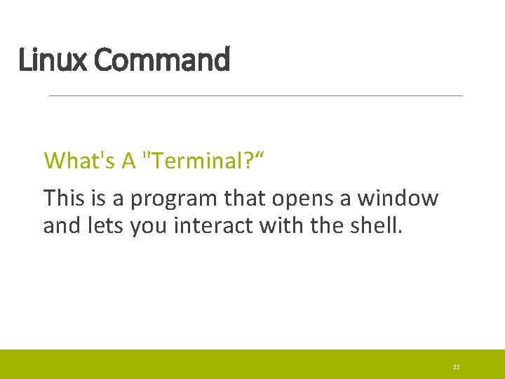 Linux Command What's A