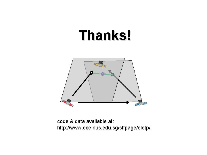 Thanks! code & data available at: http: //www. ece. nus. edu. sg/stfpage/eletp/