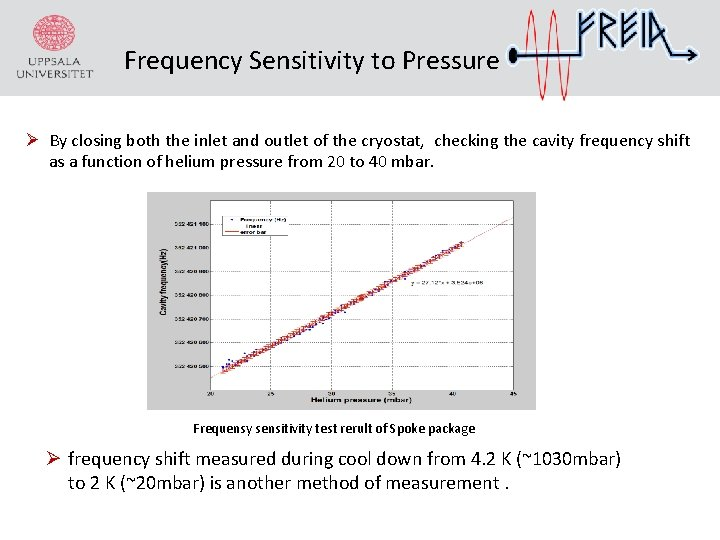 Frequency Sensitivity to Pressure Ø By closing both the inlet and outlet of the