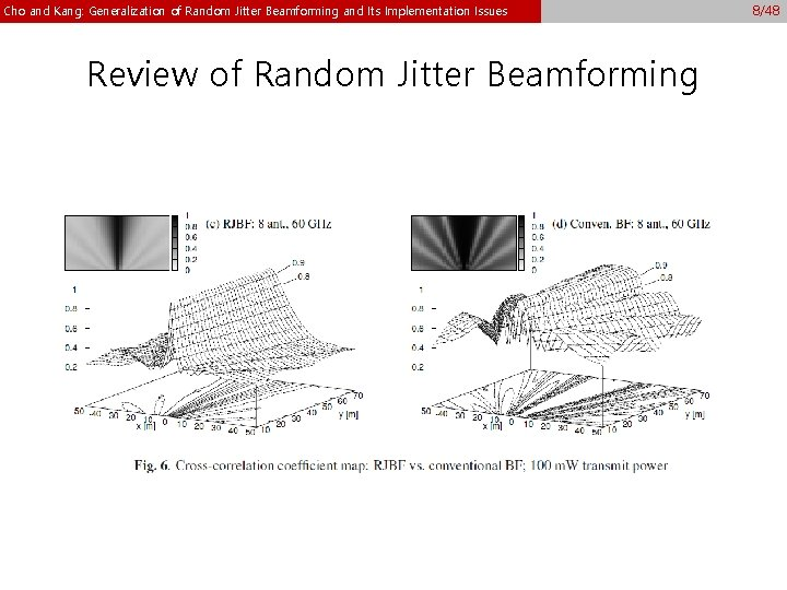 Cho and Kang: Generalization of Random Jitter Beamforming and Its Implementation Issues Review of