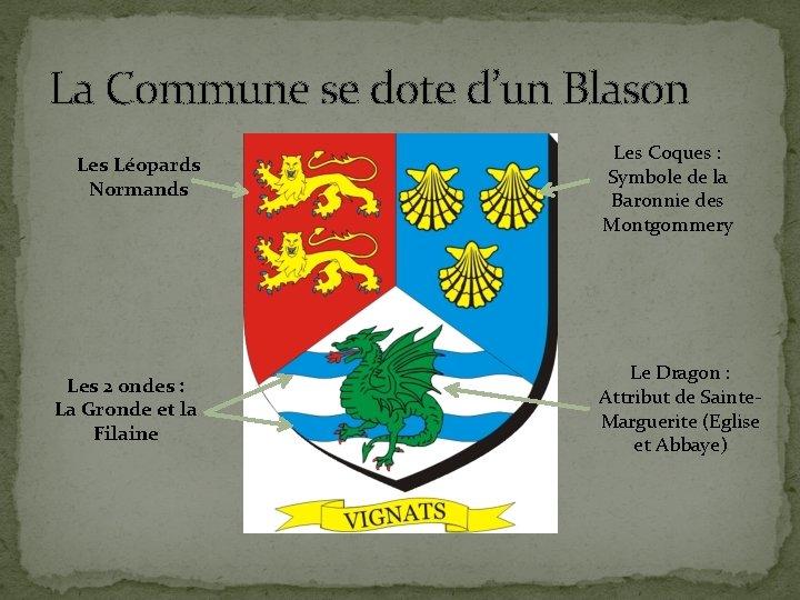 La Commune se dote d'un Blason Les Léopards Normands Les 2 ondes : La