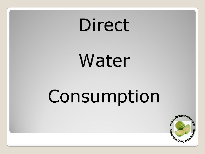 Direct Water Consumption