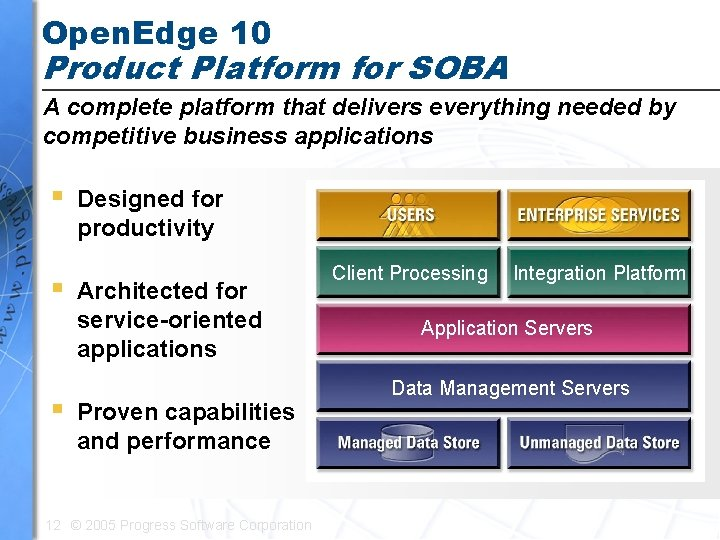 Open. Edge 10 Product Platform for SOBA A complete platform that delivers everything needed