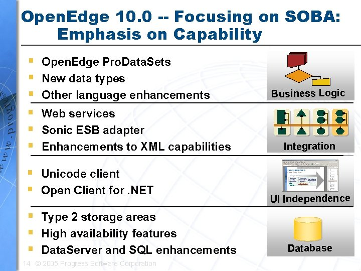 Open. Edge 10. 0 -- Focusing on SOBA: Emphasis on Capability § § §
