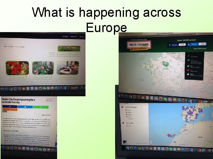 What is happening across Europe