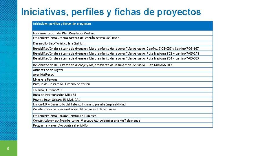 Iniciativas, perfiles y fichas de proyectos Implementación del Plan Regulador Costero Embellecimiento urbano costero