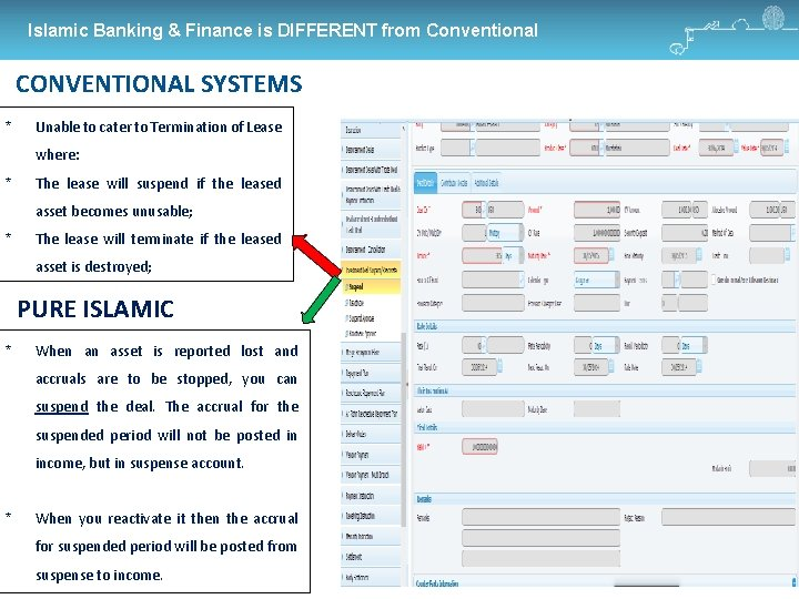 Islamic Banking & Finance is DIFFERENT from Conventional CONVENTIONAL SYSTEMS * Unable to cater