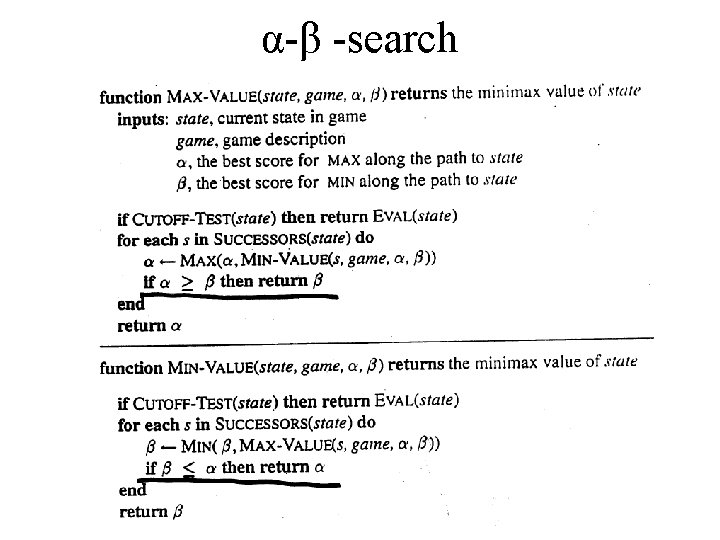 α-β -search