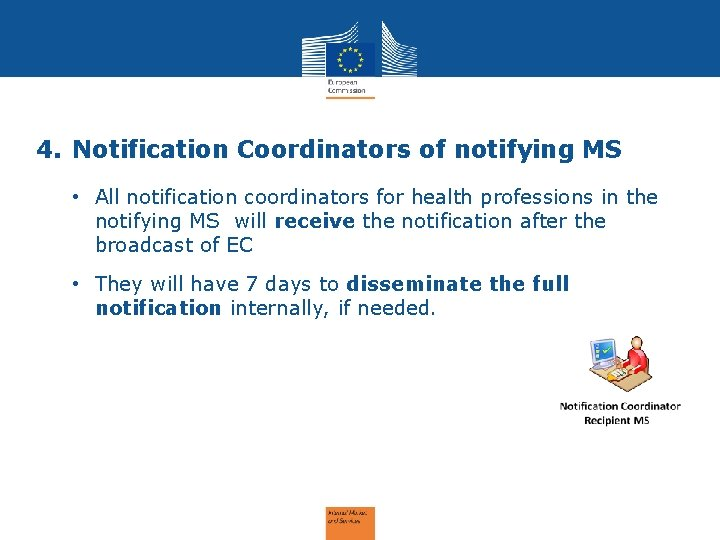 4. Notification Coordinators of notifying MS • All notification coordinators for health professions in