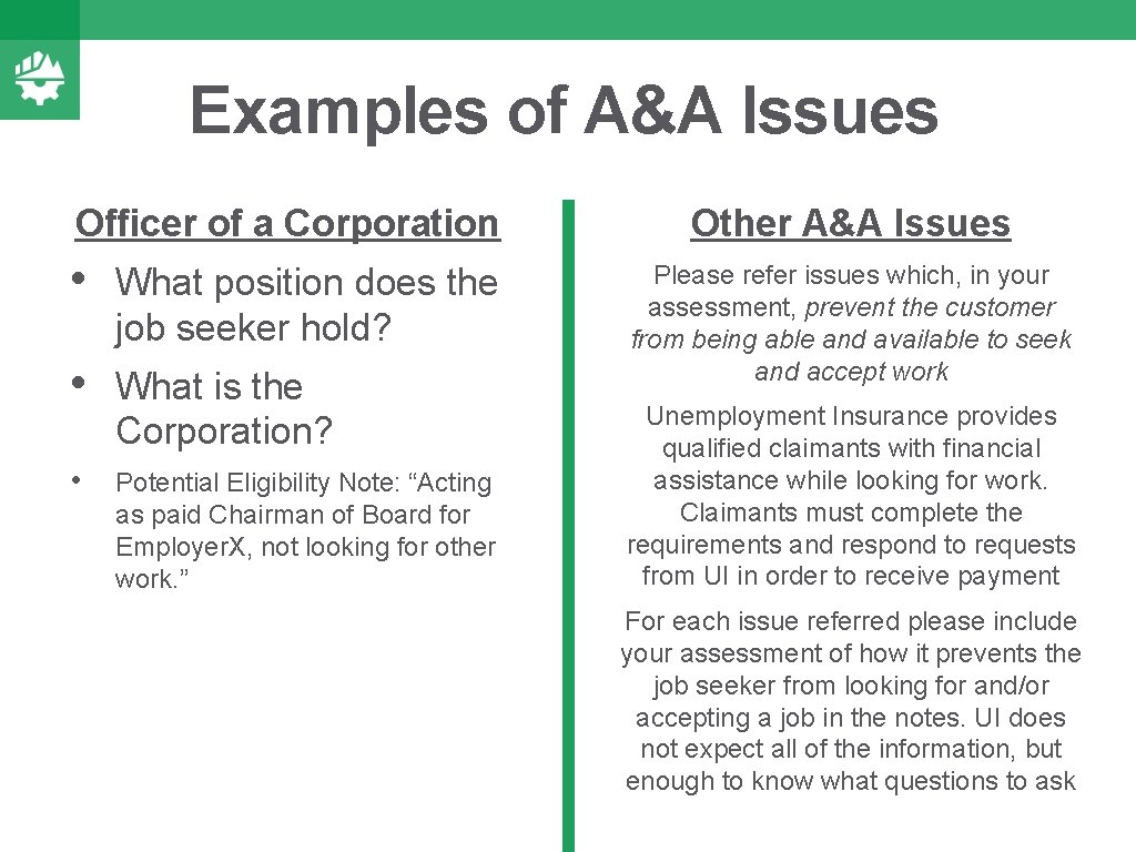 Examples of A&A Issues Officer of a Corporation • What position does the job