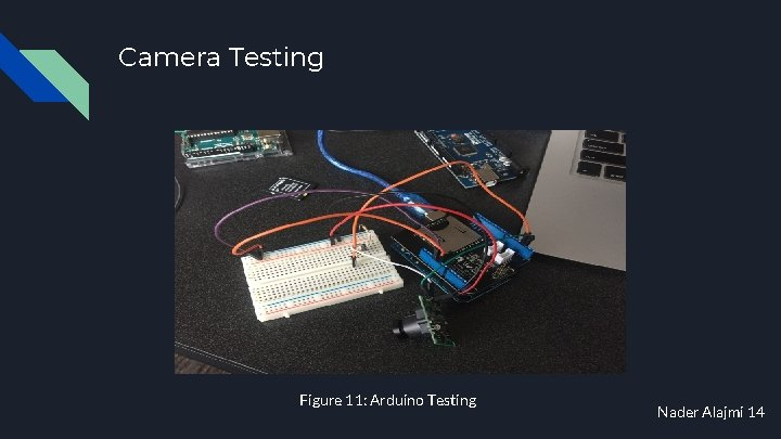 Camera Testing Figure 11: Arduino Testing Nader Alajmi 14