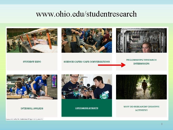 www. ohio. edu/studentresearch 8