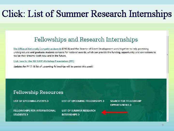 Click: List of Summer Research Internships 9