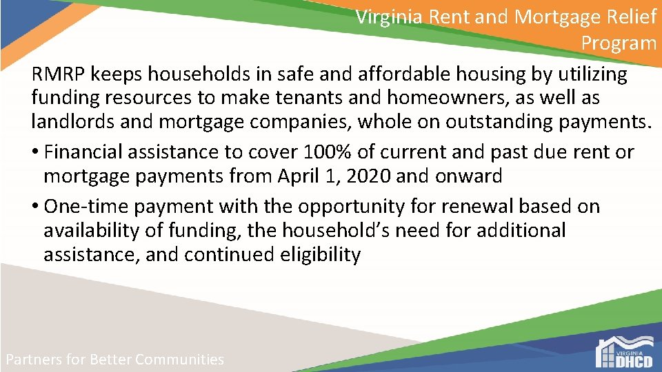 Virginia Rent and Mortgage Relief Program RMRP keeps households in safe and affordable housing