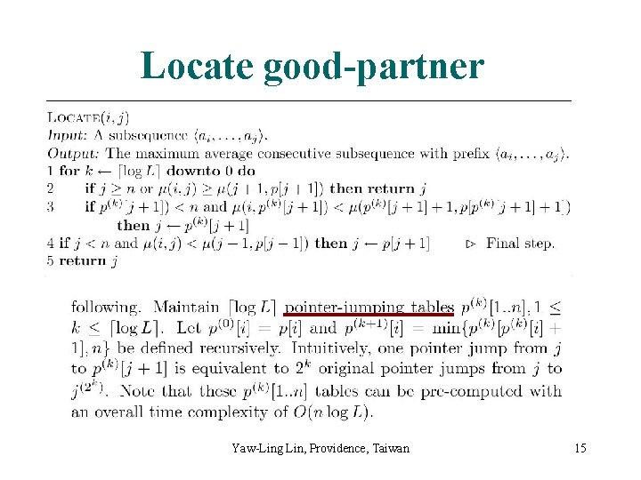 Locate good-partner Yaw-Ling Lin, Providence, Taiwan 15